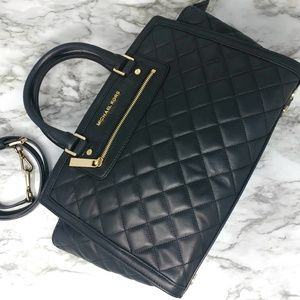 Michael Kors Leather Quilted Tote